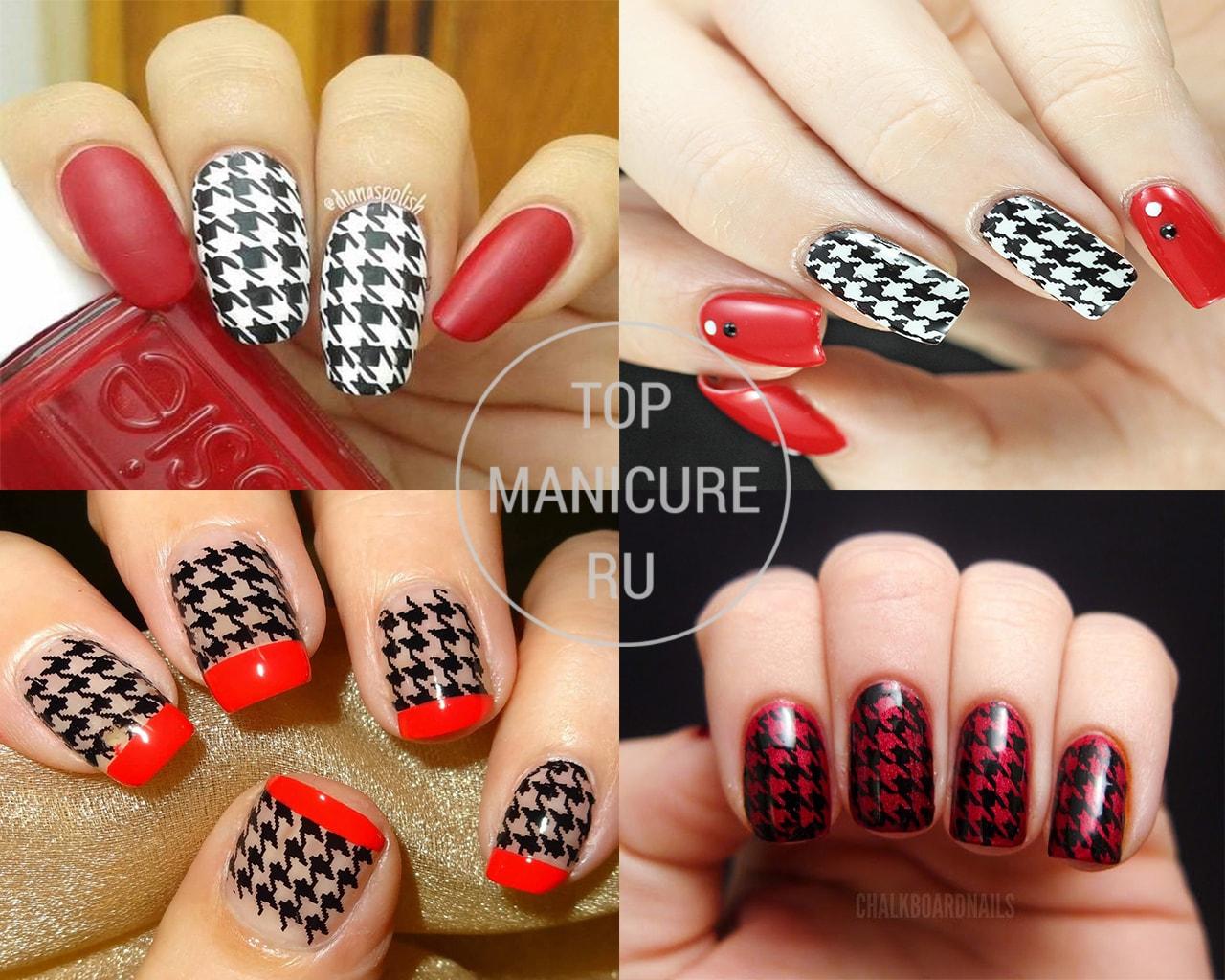 Ажуры на ногтях