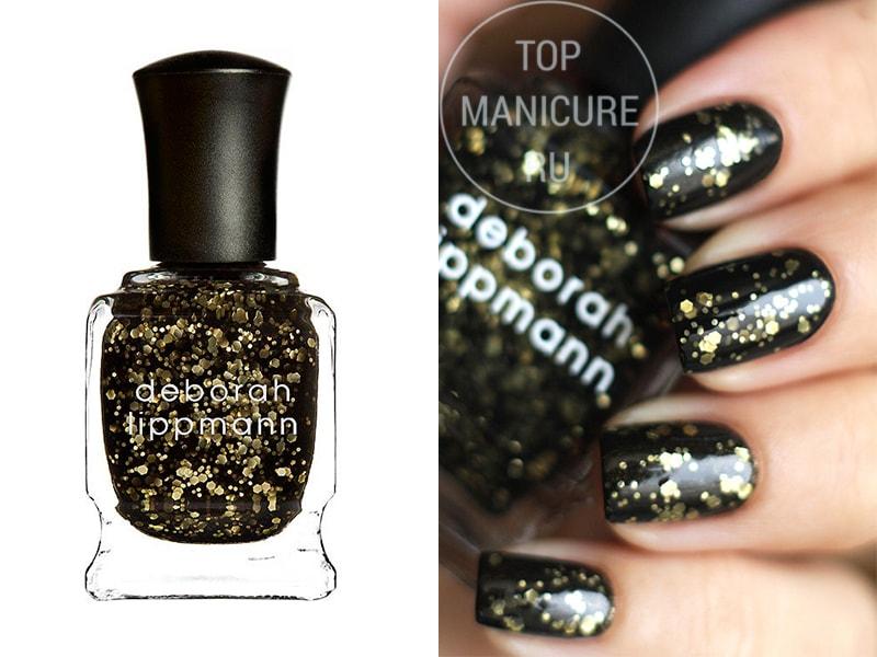 Черный лак для ногтей Deborah Lippmann Cleopatra In New York
