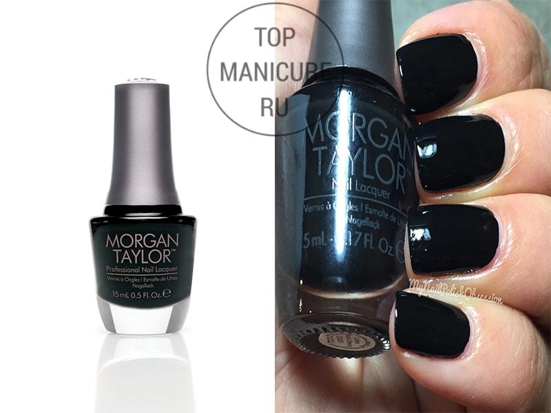 Черный лак для ногтей Morgan Taylor Little Black Dress