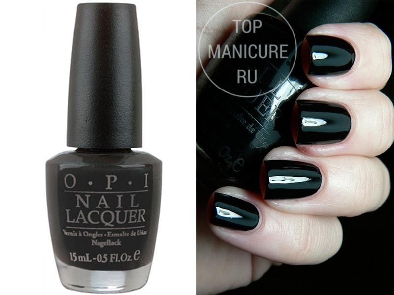 Черный лак для ногтей opi black Onyx