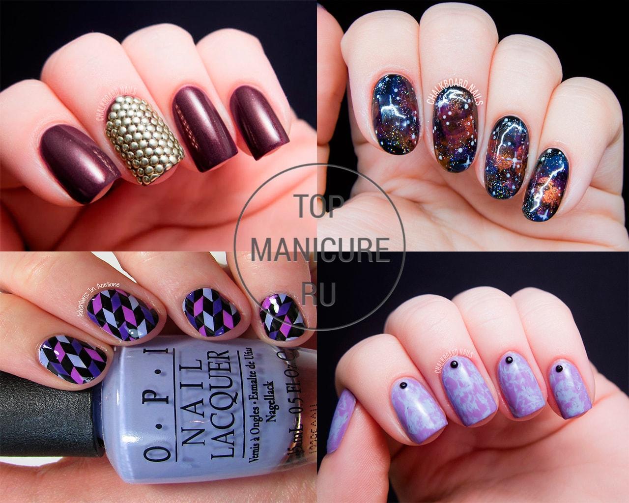 Фиолетовые ногти дизайн