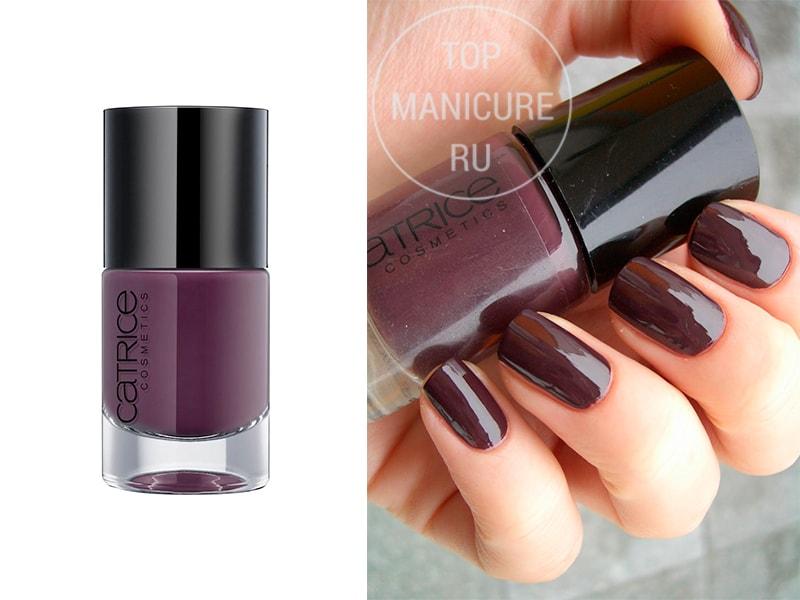 Фиолетовый лак для ногтей-catrice-vino-tinto