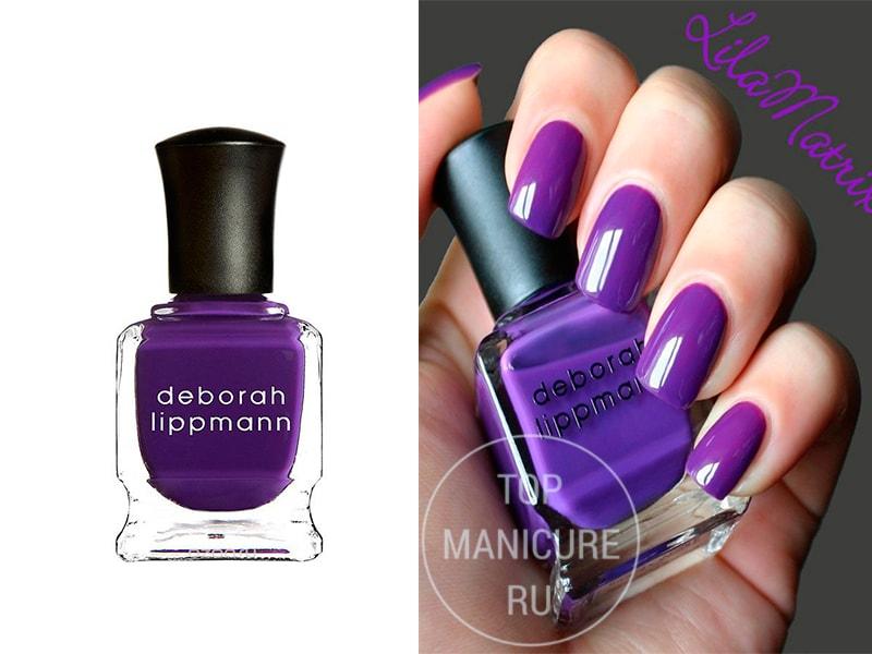 Фиолетовый лак для ногтей Deborah Lippmann Call Me Irresponsible