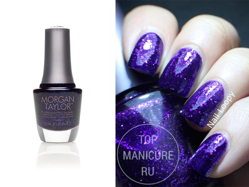 Фиолетовый лак для ногтей Morgan Taylor All The Right Move