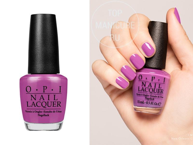 Фиолетовый лак для ногтей OPI I Manicure For Beads
