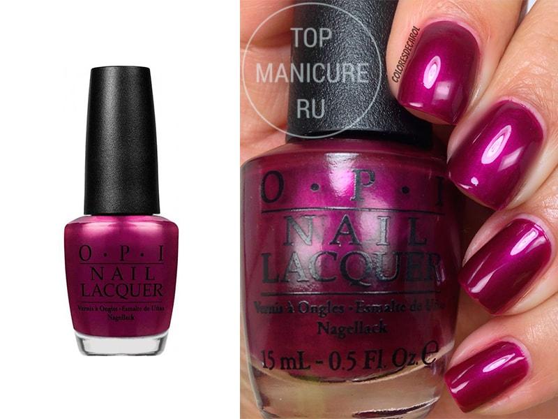 Фиолетовый лак для ногтей OPI Kiss Me Or Elf