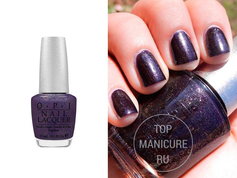 Фиолетовый лак для ногтей OPI Mystery