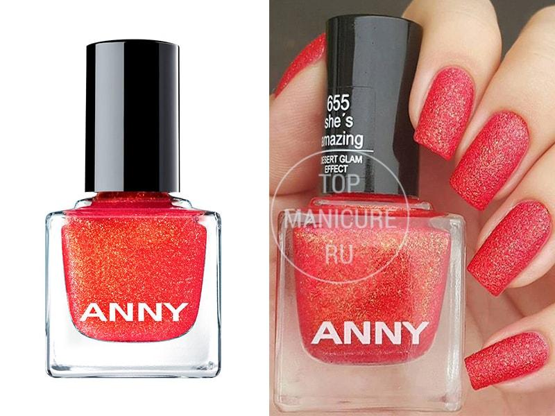 Коралловый лак для ногтей-anny-655-shes-amazing