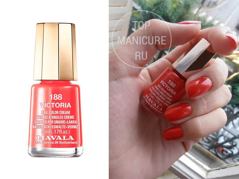 Коралловый лак для ногтей-mavala-victoria