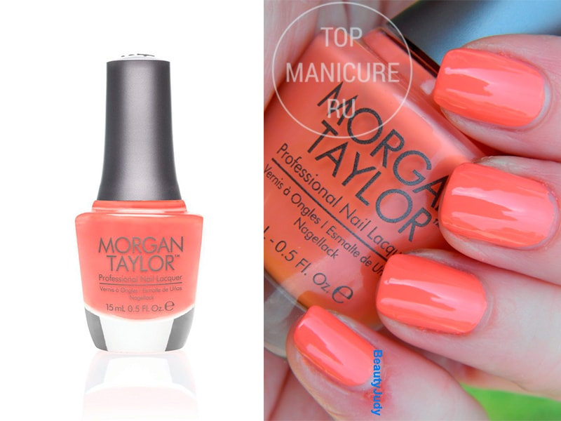 Коралловый лак для ногтей-morgan-taylor-candy-coated-coral