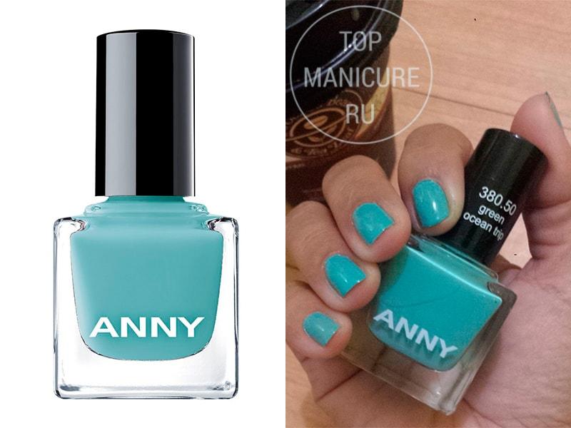Мятный лак для ногтей ANNY 380-50