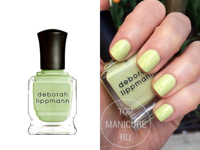 Мятный лак для ногтей Deborah Lippmann Spring Buds