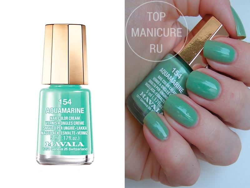 Мятный лак для ногтей Mavala Aquamarine