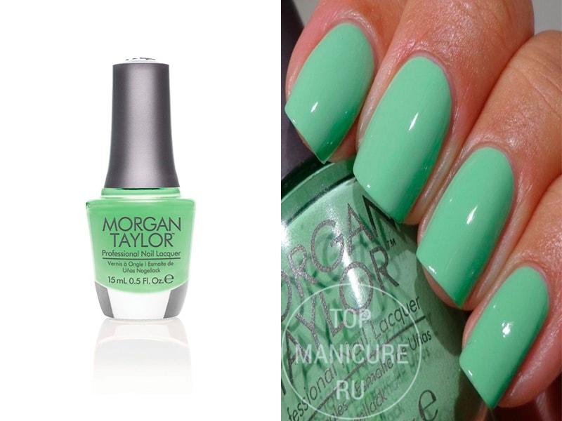 Мятный лак для ногтей Morgan Taylor Supreme In Green