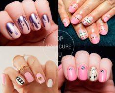 Нежно-розовый дизайн ногтей