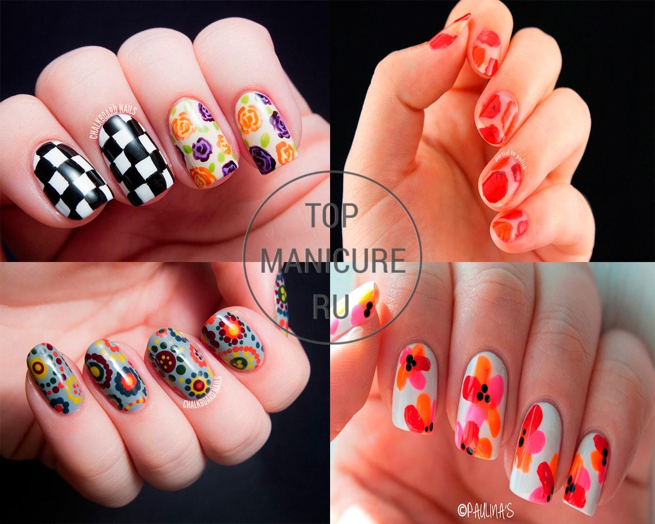 Дизайн ногтей дотсом цветы 437