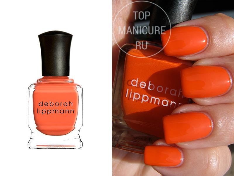 Оранжевый лак для ногтей Deborah Lippmann Laras Theme