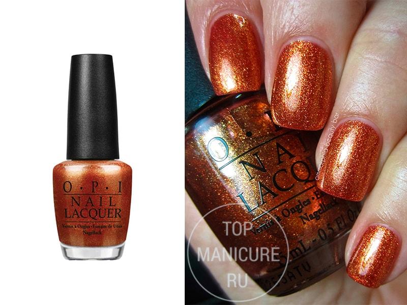 Оранжевый лак для ногтей OPI A Womans Prague Ative