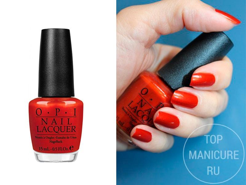 Оранжевый лак для ногтей OPI Deutsche You Want Me Baby
