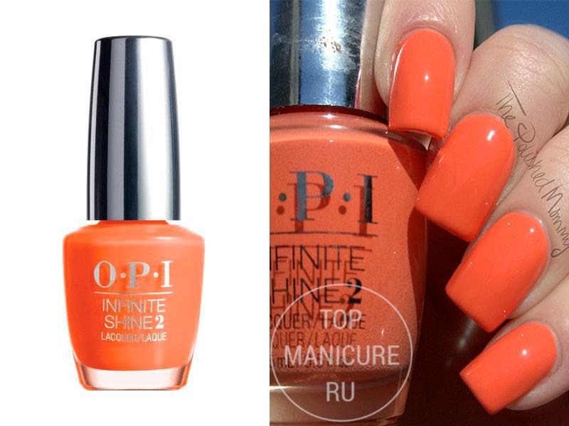 Оранжевый лак для ногтей OPI Endurance Race To Finish