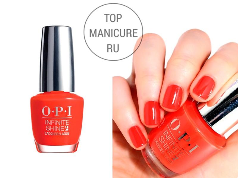 Оранжевый лак для ногтей OPI Stopping Me Now