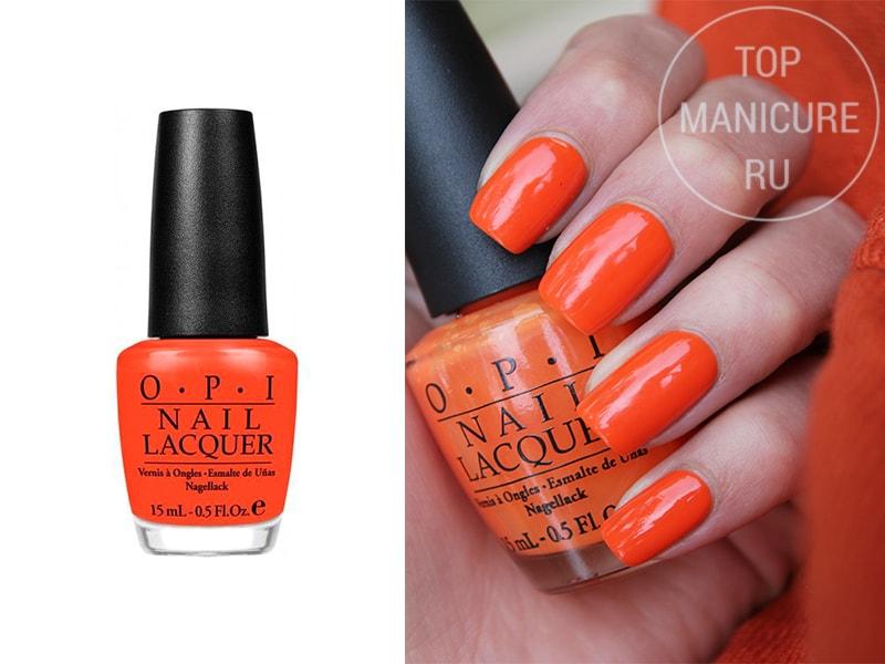 Оранжевый лак для ногтей OPI Yall Come Back Yall Hear