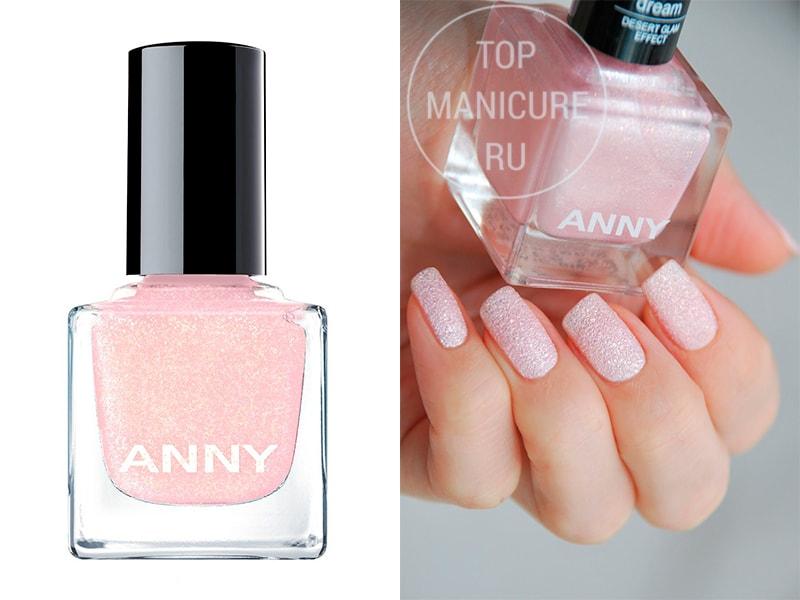 Нежно-розовый лак для ногтей Anny 610