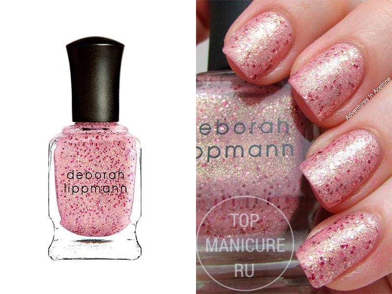 Нежно-розовый лак для ногтей Deborah Lippmann Mermaids Kiss
