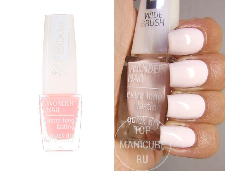 Нежно-розовый лак для ногтей Isadora 111