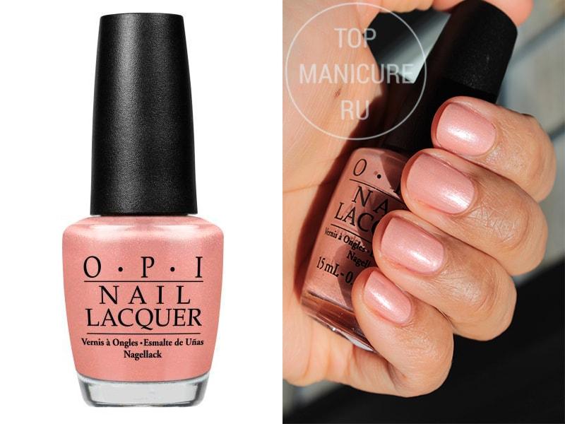Нежно-розовый лак для ногтей OPI Humidi Tea