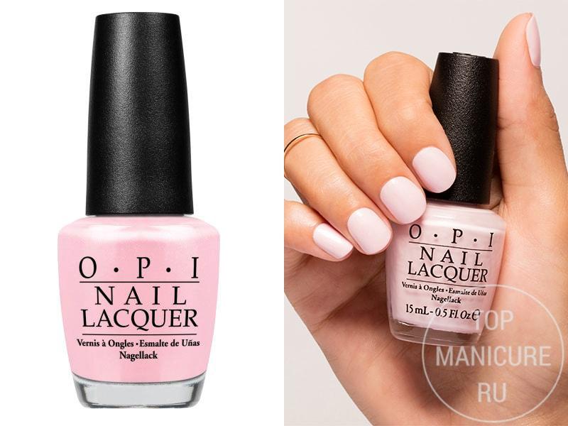 Нежно-розовый лак для ногтей OPI Let Me Bayou A Drink