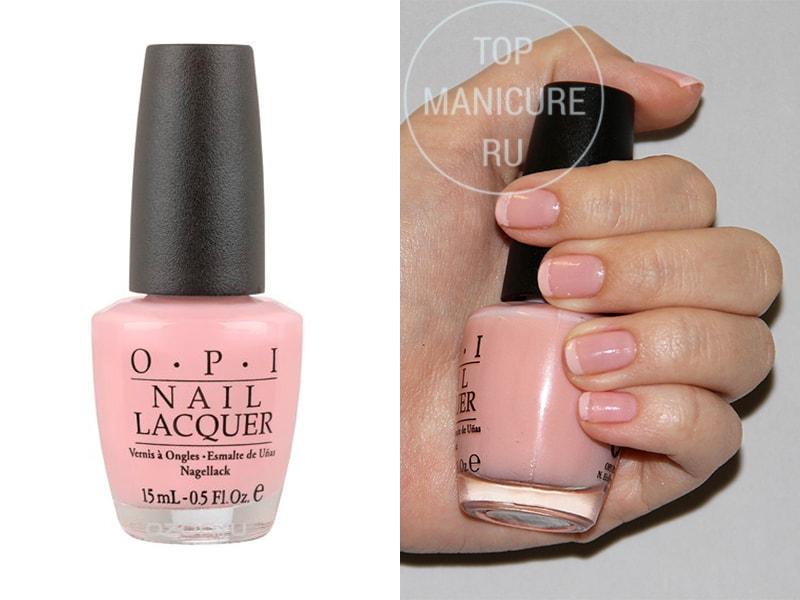 Нежно-розовый лак для ногтей OPI Passion