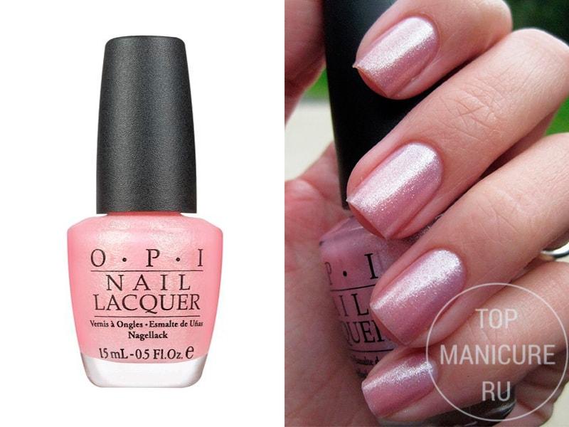 Нежно-розовый лак для ногтей OPI Princesses Rules