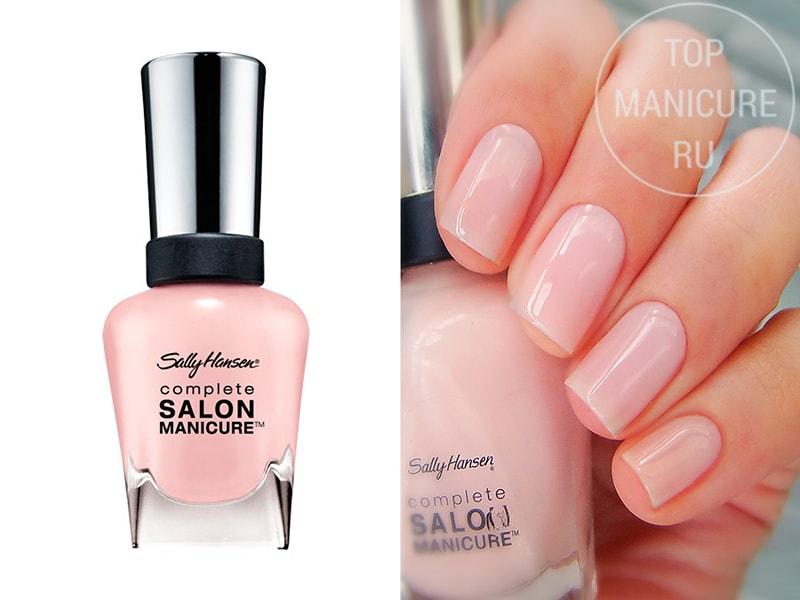 Нежно-розовый лак для ногтей Sally Hansen Salon 160