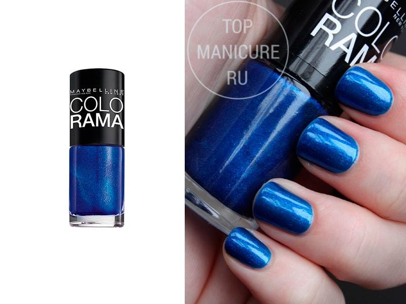 Синий лак для ногтей colorama 80
