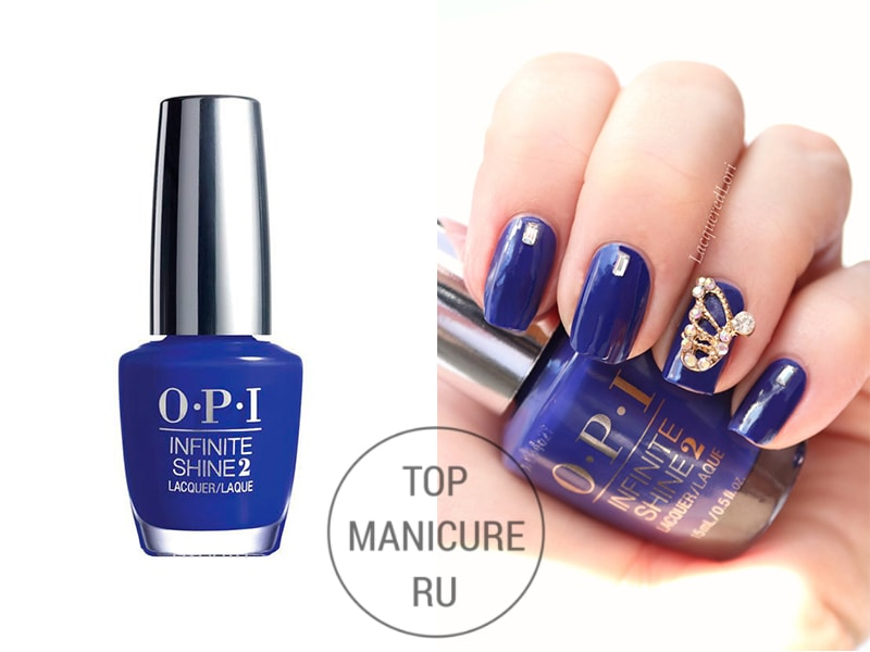 Синий лак для ногтей opi Indignantly Indigo