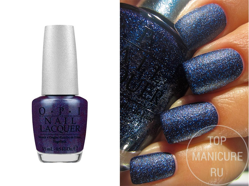 Синий лак для ногтей opi Lapis