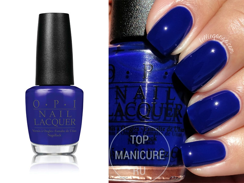 Синий лак для ногтей opi My Car Has Navy-gation