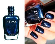 Синий лак для ногтей Zoya Indigo