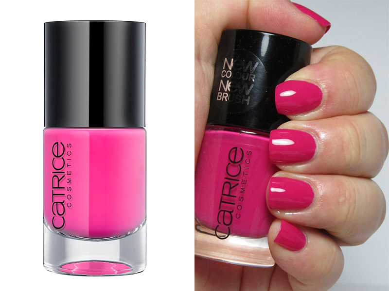 Ярко-розовый лак для ногтей Catrice The Pinky And The Brain