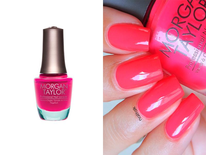 Ярко-розовый лак для ногтей Morgan Taylor Pop-arazzi