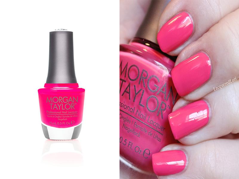 Ярко-розовый лак для ногтей Morgan Taylor Prettier In Pink