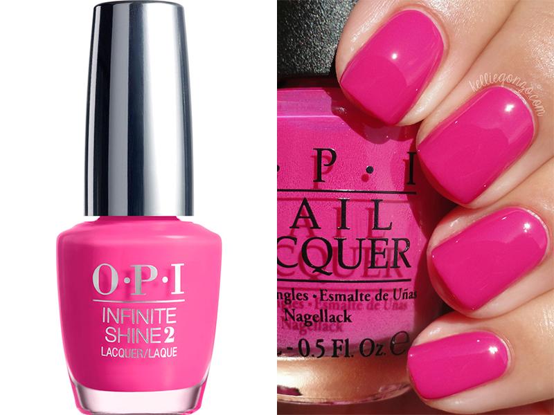 Ярко-розовый лак для ногтей OPI Girl Without Limits