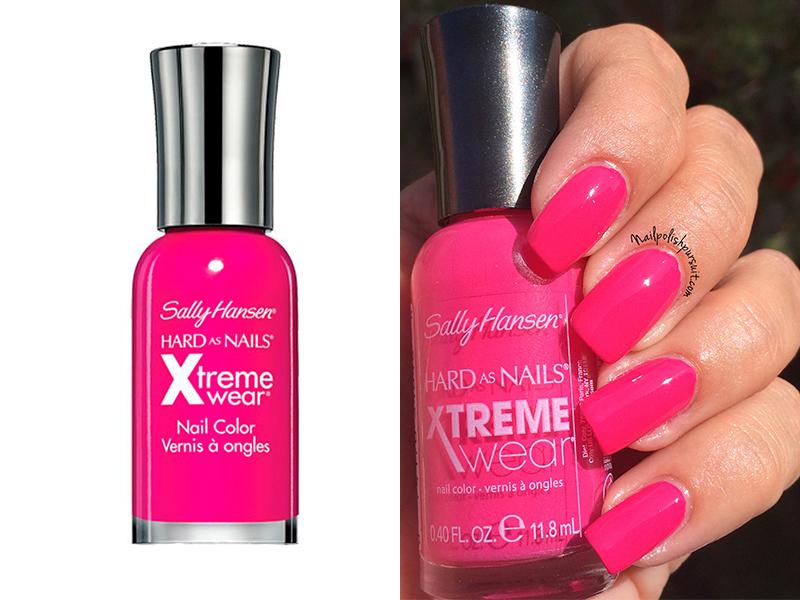 Ярко-розовый лак для ногтей Sally Hansen Fuchsia Power