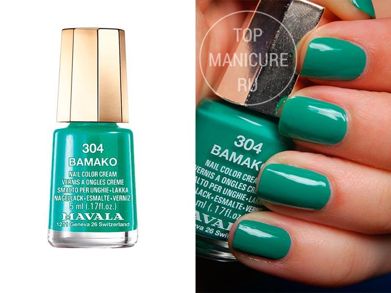 Зеленый лак для ногтей Mavala Bamako