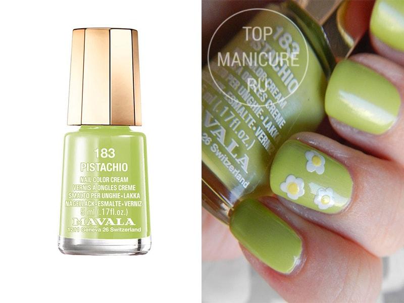 Зеленый лак для ногтей Mavala Pistachio