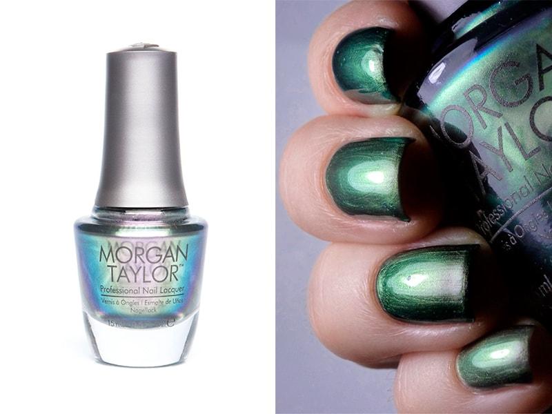 Зеленый лак для ногтей Morgan Taylor Little Misfit
