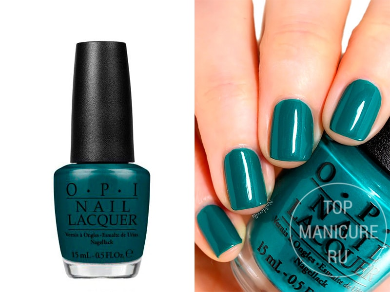 Зеленый лак для ногтей OPI Amazon Amazonoff