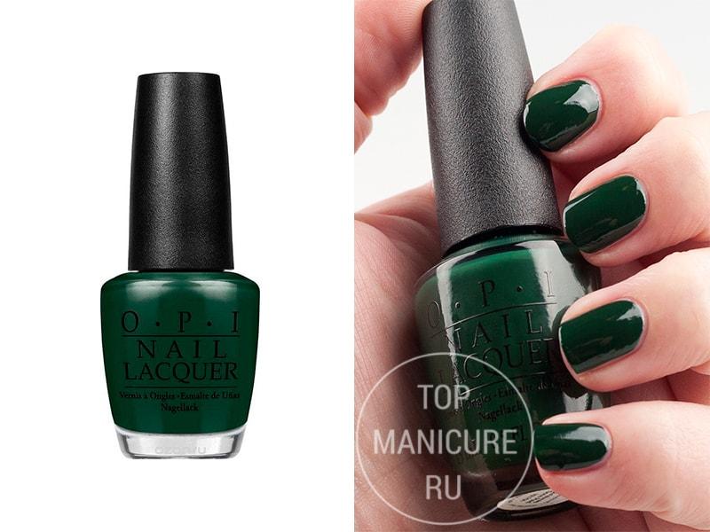 Зеленый лак для ногтей OPI Christmas Gone Plaid