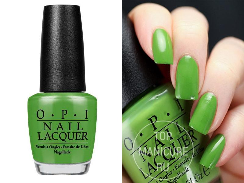 Зеленый лак для ногтей OPI Im Sooo Swamped